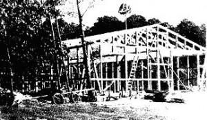 Bau des neuen Bootshauses